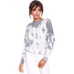 """Swetry klasyczne damskie: Sweter """"Charlie"""" w kolorze biało-antracytowym"""