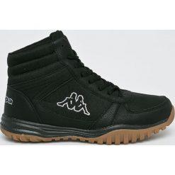 Kappa - Buty Brasker Mid. Czarne buty trekkingowe męskie Kappa, z gumy, na sznurówki, outdoorowe. W wyprzedaży za 129,90 zł.