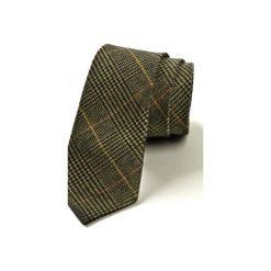 Krawat męski WOOLEN. Szare krawaty męskie HisOutfit, z materiału. Za 129,00 zł.