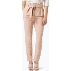 Spodnie z wysokim stanem: Apriori - Spodnie damskie z dodatkiem lnu, beżowy