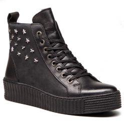 Sneakersy SERGIO BARDI - Bianze FW127357218CC 601. Czarne sneakersy damskie Sergio Bardi, z nubiku. W wyprzedaży za 199,00 zł.