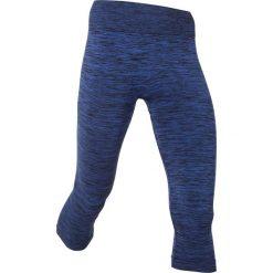 Legginsy sportowe 3/4, bezszwowe bonprix szafirowy melanż. Niebieskie legginsy we wzory bonprix, z materiału. Za 37,99 zł.
