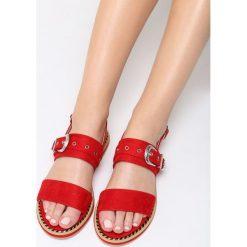 Czerwone Sandały The Chamber. Czerwone sandały damskie Born2be, z materiału, na obcasie. Za 69,99 zł.