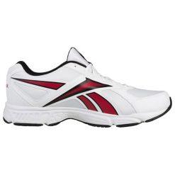 Buty sportowe w kolorze białym. Brązowe buty sportowe męskie marki Reebok, z materiału. W wyprzedaży za 149,95 zł.