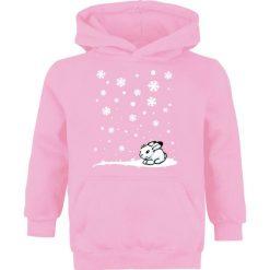 Zimowy króliczek Bluza z kapturem dziecięca jasnoróżowy (Light Pink). Czerwone bluzy niemowlęce marki zimowy króliczek, na zimę, z nadrukiem, z kapturem. Za 79,90 zł.