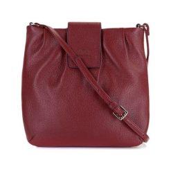 Torebki klasyczne damskie: Skórzana torebka w kolorze czerwonym – (S)23 x (W)24 x (G)2 cm