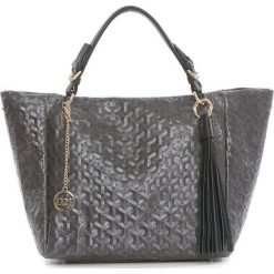 Torebki klasyczne damskie: Skórzana torebka w kolorze antracytowym – 42 x 30 x 20 cm