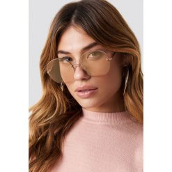 Le Specs Okulary przeciwsłoneczne Say My Name - Gold. Brązowe okulary przeciwsłoneczne damskie aviatory Le Specs. Za 283,95 zł.