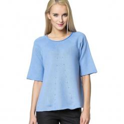 Sweter w kolorze jasnoniebieskim. Szare swetry klasyczne damskie marki Silvian Heach, l, z dzianiny, z włoskim kołnierzykiem. W wyprzedaży za 549,95 zł.