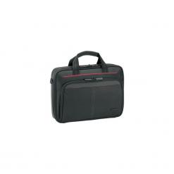 """Targus Classic Clamshell Case 12-13.4"""" czarna. Czarne torby na laptopa marki Targus, w paski, z nylonu. Za 79,90 zł."""