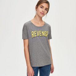T-shirty damskie: T-shirt z napisem – Szary