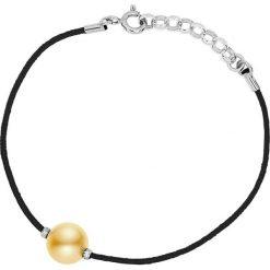 Bransoletki damskie: Bransoletka w kolorze czarnym z hodowlaną perłą słodkowodną
