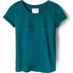 Bluzki, topy, tuniki: T-shirt szmaragdowy NO FCKN WAY.