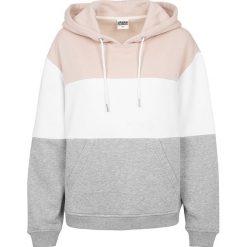 Bluzy damskie: Urban Classics Ladies Oversize 3-Tone Hoodie Bluza z kapturem damska różowy/biały