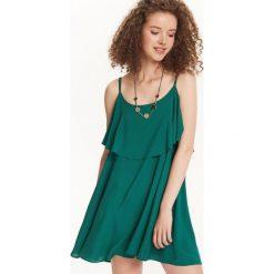 SUKIENKA DAMSKA. Niebieskie sukienki letnie marki bonprix, z nadrukiem, na ramiączkach. Za 79,99 zł.