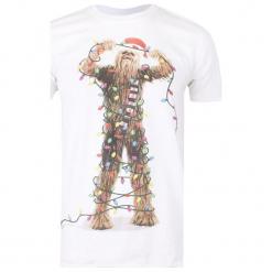 Christmas T-Shirt T-Shirt Męski Chewbacca Lights L Biały. Białe t-shirty męskie Christmas T-Shirt, l, z bawełny. Za 65,00 zł.