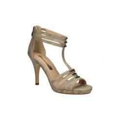Sandały Tamaris  SANDAŁY  1-28387-34. Szare sandały damskie marki Tamaris, z materiału. Za 139,99 zł.