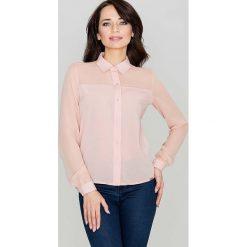 Bielizna damska: Różowa Klasyczna Koszula Damska Zapinana na Zatrzaski