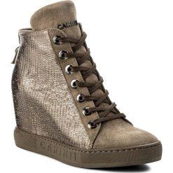 Sneakersy CARINII - B3904 NS-I94-I95-000-B88. Żółte sneakersy damskie Carinii, z materiału. W wyprzedaży za 259,00 zł.