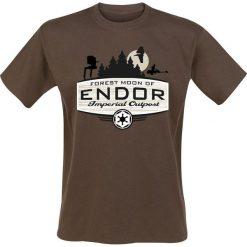 T-shirty męskie: Star Wars Forest Moon T-Shirt brązowy