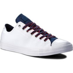 Trampki CONVERSE - Ctas Ox 160467C White/Navy/Gym Red. Białe trampki męskie Converse, z gumy. W wyprzedaży za 179,00 zł.