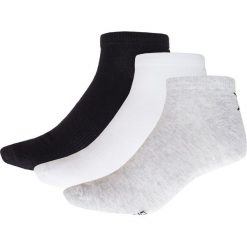 Skarpetki męskie (3 pary) SOM621 - biały + czarny + szary - Outhorn. Białe skarpetki męskie marki Outhorn, z bawełny. Za 19,99 zł.