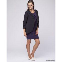 Bluza z kapturem Softy LOOK fioletowy antracyt. Fioletowe bluzy rozpinane damskie Pakamera, z bawełny, z kapturem. Za 189,00 zł.