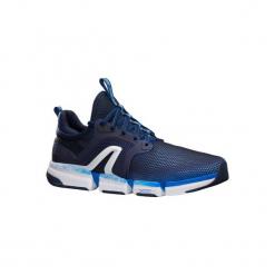 Buty męskie do szybkiego marszu PW 590 Xtense w kolorze granatowym. Niebieskie buty fitness męskie marki NEWFEEL, z gumy. Za 199,99 zł.