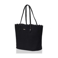 Shopper bag damskie: TORBA SHOPPER FALBANKA MILTON  CZARNA STELLA