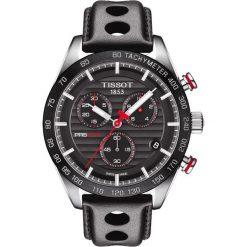 PROMOCJA ZEGAREK TISSOT PRS 516 Chronograph T100.417.16.051.00. Czarne zegarki męskie TISSOT, ze stali. W wyprzedaży za 2376,00 zł.