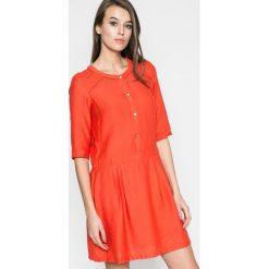 Answear - Sukienka Rita. Szare sukienki mini ANSWEAR, na co dzień, l, z materiału, casualowe, z okrągłym kołnierzem, z krótkim rękawem, proste. W wyprzedaży za 79,90 zł.