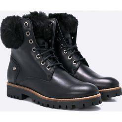 Panama Jack - Botki Tiffany. Czarne buty zimowe damskie Panama Jack, z materiału, z okrągłym noskiem, na obcasie. W wyprzedaży za 399,90 zł.