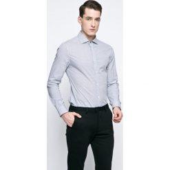 Guess Jeans - Koszula. Szare koszule męskie jeansowe Guess Jeans, l, z włoskim kołnierzykiem, z długim rękawem. W wyprzedaży za 239,90 zł.