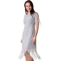 Sukienki hiszpanki: Sukienka w kolorze srebrnym