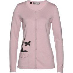 Sweter rozpinany bonprix matowy jasnoróżowy - czarny. Białe kardigany damskie marki Reserved, l. Za 74,99 zł.