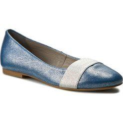 Baleriny EDEO - 2318A-766 Niebieski Błyszczący. Białe baleriny damskie marki Born2be, ze skóry, na płaskiej podeszwie. W wyprzedaży za 179,00 zł.