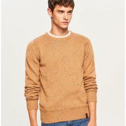 Sweter - Beżowy. Brązowe swetry klasyczne męskie marki Reserved, m. Za 99,99 zł.