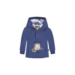 Steiff  Boys Bluza z kapturem - niebieski - Gr.Moda (6 - 24 miesięcy ). Niebieskie bluzy niemowlęce marki Steiff, z bawełny, z kapturem. Za 135,00 zł.