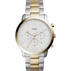 Zegarek FOSSIL - Neutra Chrono FS5385 2-Tone/Gold. Różowe zegarki męskie marki Fossil, szklane. W wyprzedaży za 579,00 zł.