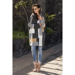 Unikalny sweter kardigan multikolor ls204. Szare swetry oversize damskie Lemoniade. W wyprzedaży za 119,00 zł.
