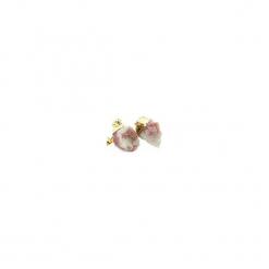 Kolczyki Turmalin Różowy złoto. Czerwone kolczyki damskie Brazi druse jewelry, z mosiądzu, na sztyftcie. Za 170,00 zł.
