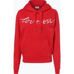 ONLY - Damska bluza nierozpinana – Josie, czerwony. Szare bluzy z kapturem damskie marki ONLY, s, z bawełny, casualowe, z okrągłym kołnierzem. Za 129,95 zł.