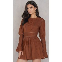 Sukienki: Free People Sukienka Mini Victorian Waisted - Brown