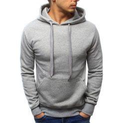 Bluzy męskie: Bluza męska z kapturem szara (bx3382)