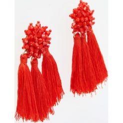 Kolczyki damskie: Duże kolczyki z chwostami – Czerwony