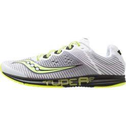 Saucony TYPE A Obuwie do biegania startowe white/black/citron. Białe buty do biegania męskie Saucony, z materiału. Za 509,00 zł.
