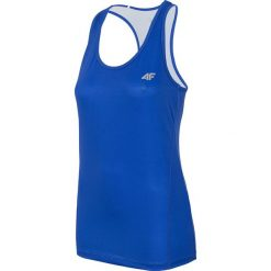 Damski top sportowy 4F Dry Control Blue. Niebieskie topy sportowe damskie Astratex, z tkaniny, z okrągłym kołnierzem. Za 49,00 zł.