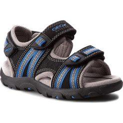 Sandały GEOX - J S.Strada A J4224A 0CE14 C0245 Czarny/Królewski. Czarne sandały męskie skórzane marki Geox. W wyprzedaży za 209,00 zł.