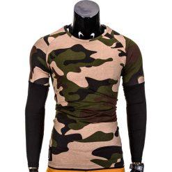 T-shirty męskie: LONGSLEEVE MĘSKI BEZ NADRUKU L65 – MORO