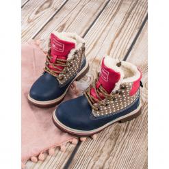 DZIECIĘCE OCIEPLANE BUTY ZIMOWE - odcienie niebieskiego. Niebieskie buciki niemowlęce marki ARRIGO BELLO, na zimę. Za 84,90 zł.